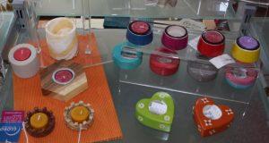 Foto: verschiedene Teelichter aus Speckstein