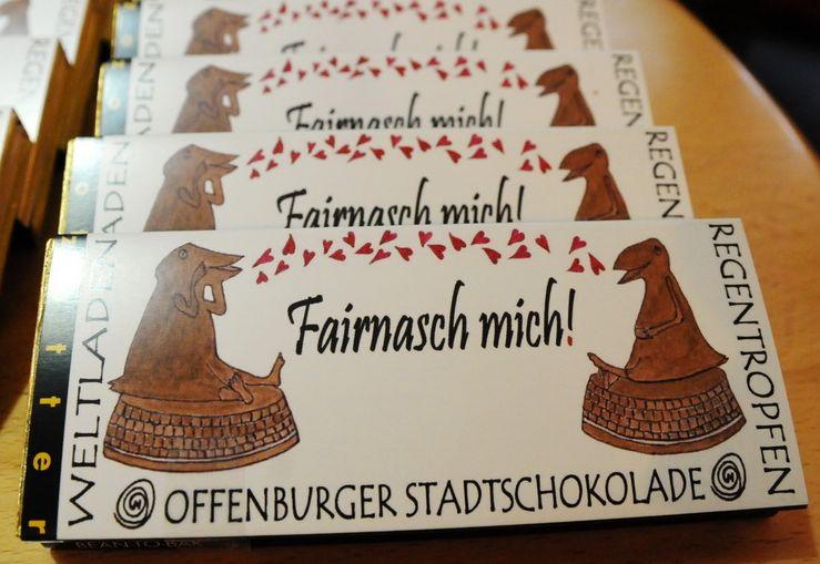 """Offenburger Stadtschokolade """"Fairnasch mich!"""""""