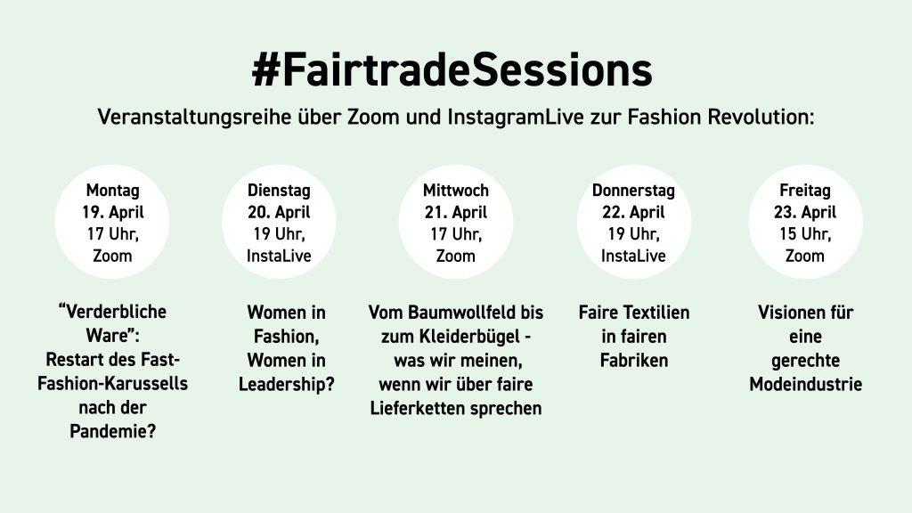 Grafik: Online-Veranstaltungsreihe #FairtadeSessions