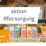 Collage zur aktion #fairsorung des Weltladen-Dachverbands