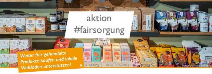 Collage zur aktion #fairsorung des Weltladen-Dachverbands